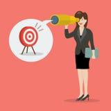 Biznesowa kobieta patrzeje dla biznesowego celu Obrazy Royalty Free