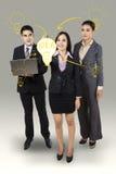 Biznesowa kobieta pisze dużym pomysle Obraz Stock
