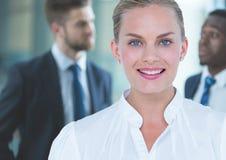 Biznesowa kobieta, przedpole fotografia royalty free