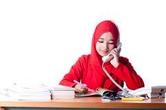 Biznesowa kobieta przy pracą Zdjęcia Royalty Free