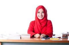 Biznesowa kobieta przy pracą Zdjęcia Stock