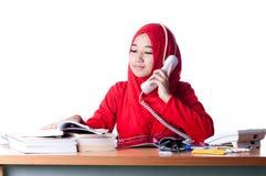 Biznesowa kobieta przy pracą Fotografia Stock