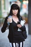 Biznesowa kobieta Przygotowywająca dla Jej dnia Fotografia Stock