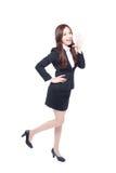Biznesowa kobieta stoi krzyczeć Zdjęcie Stock