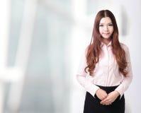 Biznesowa kobieta uśmiech powabna twarz Fotografia Stock