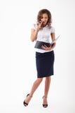 Biznesowa kobieta w studiu Obraz Royalty Free