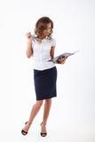 Biznesowa kobieta w studiu Obraz Stock