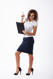 Biznesowa kobieta w studiu Obrazy Stock