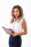 Biznesowa kobieta w studiu Zdjęcie Royalty Free