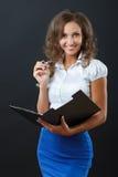 Biznesowa kobieta w studiu Zdjęcia Royalty Free