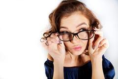 Biznesowa kobieta w szkłach Zdjęcie Royalty Free