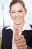 Biznesowa kobieta wali up Zdjęcia Stock