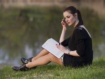 Biznesowa kobieta z agendą Obraz Stock