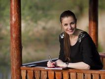 Biznesowa kobieta z agendą Obraz Royalty Free