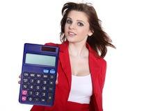 Biznesowa kobieta z kalkulatorem Obrazy Stock