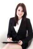 Biznesowa kobieta z notepad Zdjęcia Royalty Free