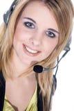 Biznesowa kobieta z słuchawki Obraz Stock