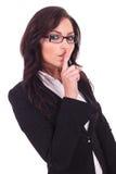 Biznesowa kobieta zamyka ciebie up Fotografia Stock
