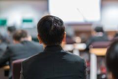 Biznesowa konferencja i prezentacja w sala konferencyjnej zdjęcie stock