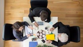 Biznesowa konferencja - widok od above Zdjęcie Royalty Free