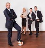 biznesowa konkurencyjna silna drużyna Zdjęcia Royalty Free