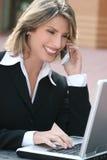 biznesowa korporacyjna laptopu korporacyjny kobieta zdjęcie royalty free