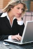 biznesowa korporacyjna laptopu korporacyjny kobieta obraz stock