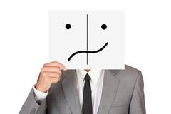 Biznesowa kryjówka wprawiać w zakłopotanie emocję Obraz Stock