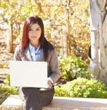 biznesowa laptopu biura biznesowy kobieta Fotografia Stock