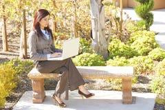 biznesowa laptopu biura biznesowy kobieta Obraz Royalty Free