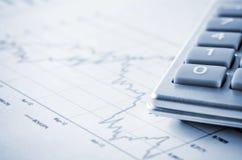 Biznesowa mapa i kalkulator Zdjęcie Royalty Free