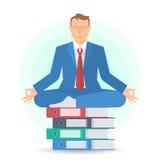 Biznesowa medytacja A ilustracja wektor