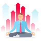 Biznesowa medytacja E ilustracja wektor