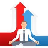 Biznesowa medytacja F ilustracja wektor