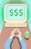 Biznesowa motywaci praca dla dolarów Fotografia Royalty Free
