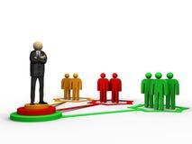 biznesowa naczelna sieć Ilustracja Wektor