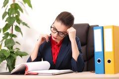 biznesowa nowożytna biurowa kobieta Zdjęcia Royalty Free