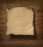 biznesowa nutowego papieru ściana drewniana Obrazy Royalty Free