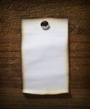 biznesowa nutowego papieru ściana drewniana Obraz Stock