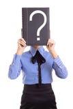 biznesowa oceny problemów pytania kobieta zdjęcia stock