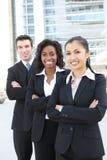 biznesowa ostrości środka drużyny kobieta Zdjęcie Stock
