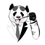 Biznesowa panda ilustracji