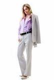 biznesowa pant kostiumu kobieta zdjęcia royalty free