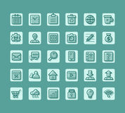Biznesowa płaska ikona dla sieci i wisząca ozdoba wektoru setu Zdjęcia Stock