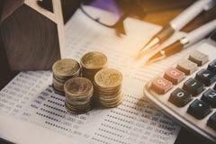 Biznesowa Pieniężnego planowania Pieniężna analiza dla Korporacyjnego Gro zdjęcia royalty free