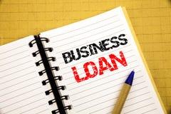 Biznesowa pożyczka Biznesowy pojęcie dla Pożyczać finanse kredyt pisać na notepad z kopii przestrzenią na starym drewnianym drewn zdjęcie royalty free