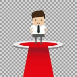 Biznesowa pojęcie ilustracja biznesmeni na podium, biznesowa rywalizacja, zwycięzcy pojęcie ilustracja wektor