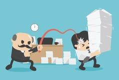Biznesowa pojęcie praca jak niewolnicy Zdjęcia Stock