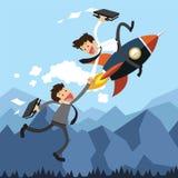 Biznesowa pomoc rakietą Obrazy Stock