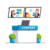 Biznesowa powystawowa przedstawienie produktu prezentacja royalty ilustracja